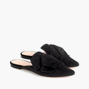 NIB J. Crew Women's Pointed-Toe Slides in Suede